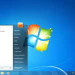 Windows 7 start page