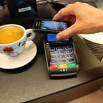 person using Android Pay