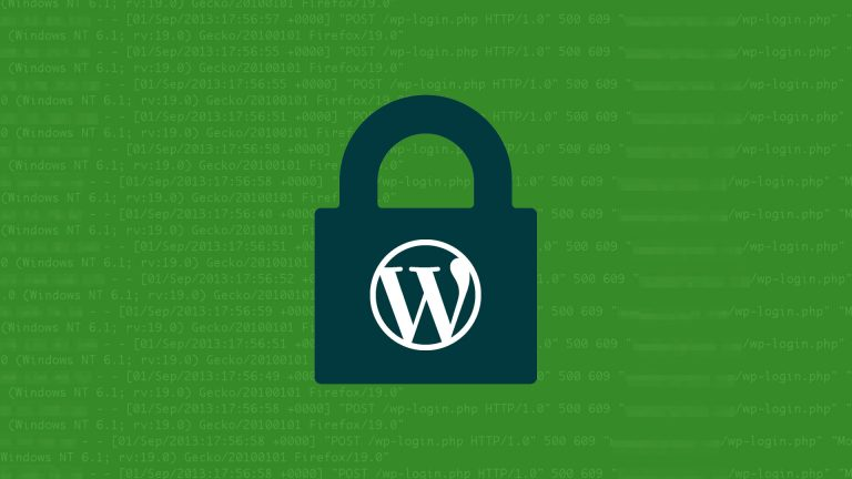 WordPress Logo inside a lock