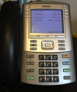 Phone displaying Caller ID