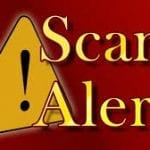 Scam Alert Sign