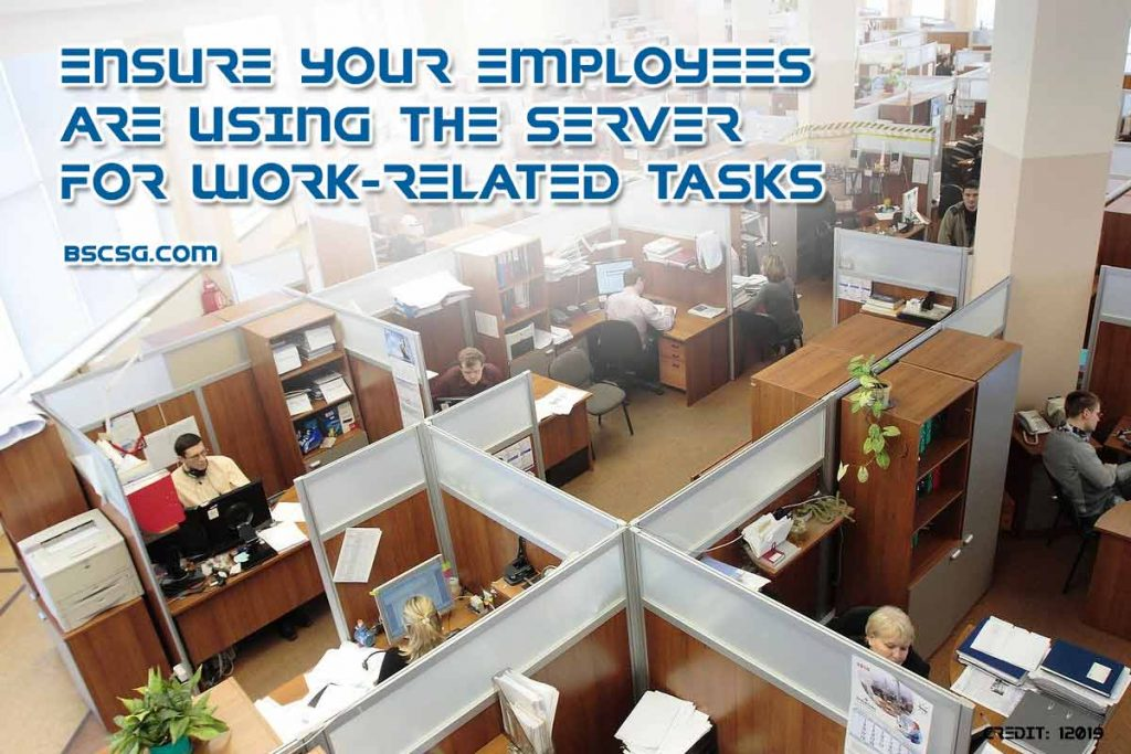 Ensure your employees are using the server for work-related tasks