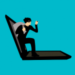 Computer Hacker Cartoon