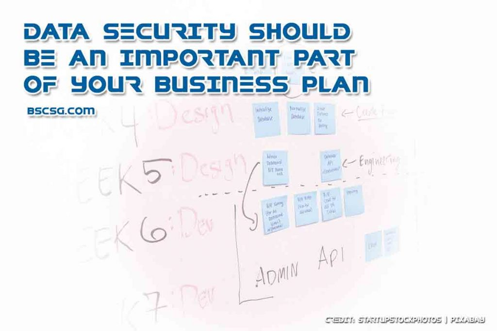 Data security should be an important part of your business plan